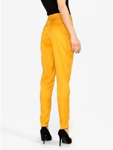 Pantaloni galben mustar conici cu talie inalta MISSGUIDED
