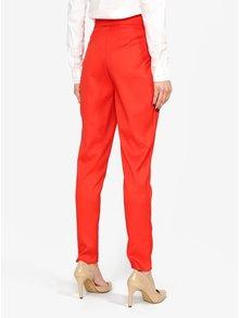 Pantaloni conici rosii cu talie inalta MISSGUIDED