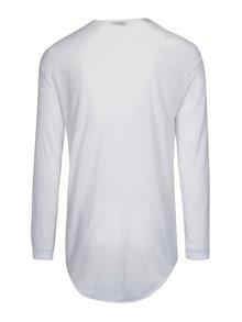 Biele oversize tričko s dlhým rukávom Selected Homme Splint