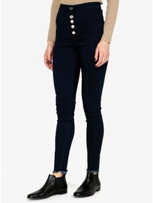 Modré skinny džíny s vysokým pasem MISSGUIDED