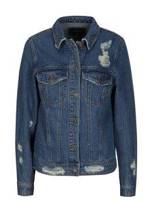 Modrá džínová bunda s výšivkou na zádech ONLY Becky