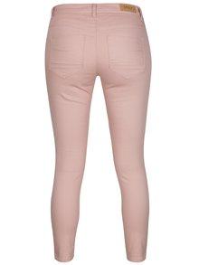 Blugi skinny roz cu fermoare decorative ONLY Kendell