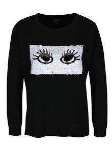 Čierny sveter s magickými flitrami ONLY Rosetta