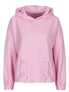Ružový sveter s kapucňou ONLY Gia