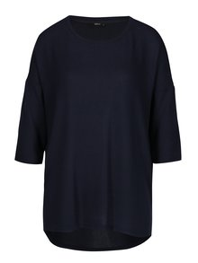 Modrý volný svetr s 3/4 rukávem ONLY New Maye