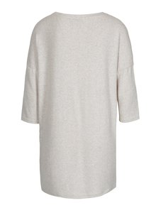 Béžový melírovaný voľný sveter s 3/4 rukávom ONLY New Maye
