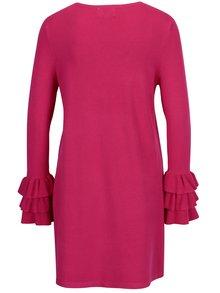 Rochie pulover roz cu volane la maneci -  ONLY Ginny