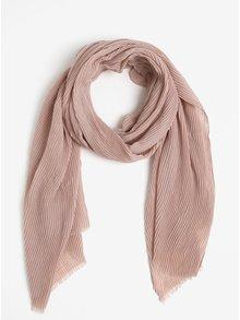 Starorůžový žebrovaný šátek Pieces Nabia