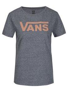 Tricou gri cu print logo pentru femei - VANS Flying