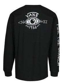 Bluza neagra din bumbac cu print pentru barbati - Vans Dakota
