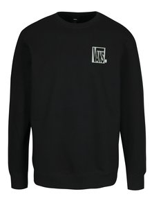 Bluza neagra cu print logo si mesaj pentru barbati - Vans New Checker