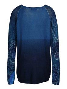 Tmavě modrý svetr s potiskem Desigual Spicatum