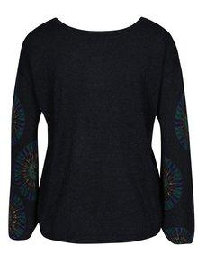Pulover bleumarin cu mandala si aplicatii decorative - Desigual Valeri