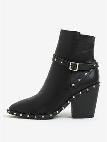 Černé kotníkové boty s aplikací MISSGUIDED