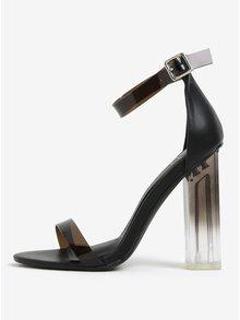 Sandale negre cu toc inalt si transparent MISSGUIDED
