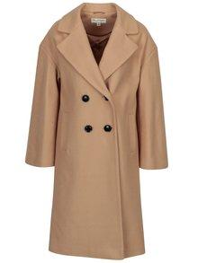 Béžový kabát s příměsí vlny Miss Selfridge