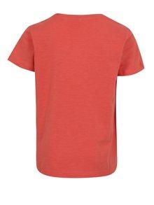 Oranžové chlapčenské tričko s potlačou name it Hirclas