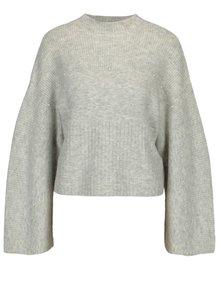 Svetlosivý melírovaný sveter s perličkami Miss Selfridge