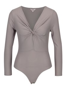Body gri cu nod decorativ Miss Selfridge Petites