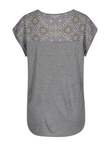 Šedé tričko s potiskem Desigual Claudine