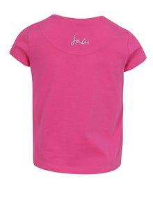 Ružové dievčenské tričko s flitrami Tom Joule Astra