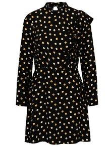 Černé puntíkované šaty Miss Selfridge