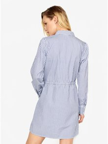 Bielo-modré pruhované košeľové šaty Jacqueline de Yong Lucky