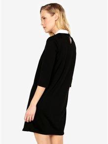 Čierne šaty s golierom ONLY Sunny