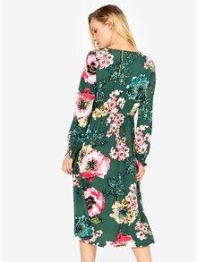 Zelené květované midišaty ONLY Katehrine