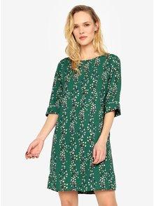 Zelené kvetované šaty s prestrihom na chrbte ONLY Ditte