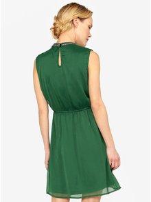 Rochie verde cu aplicatii pe guler  ONLY Dafne