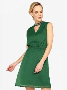 Zelené šaty s koráilkovou aplikáciou ONLY Dafne