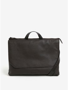 Geanta laptop maro inchis din piele naturala - Royal RepubliQ Omega