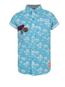Tyrkysová chlapčenská vzorovaná košeľa Blue Seven