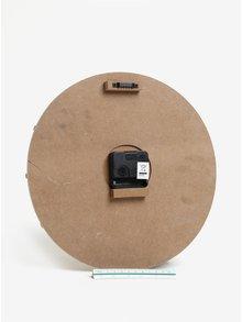 Hnědé dřevěné hodiny SIFCON