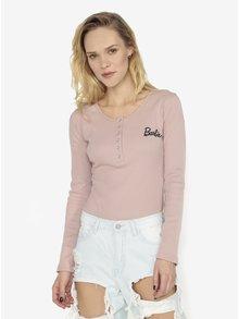 Bluza roz prafuit cu model striuri - MISSGUIDED