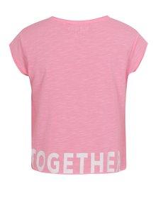 Ružové dievčenské krátke tričko s nápisom Blue Seven