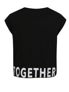Černé holčičí krátké tričko s nápisem Blue Seven