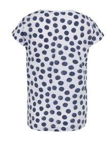 Modro-biele dievčenské bodkované tričko s potlačou Blue Seven