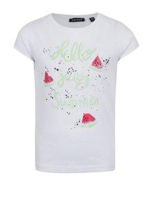 Bílé holčičí tričko s potiskem melounu Blue Seven