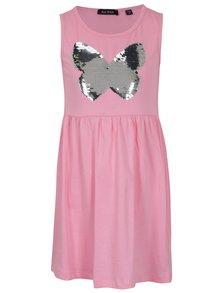 Světle růžové holčičí šaty s magickými flitry Blue Seven
