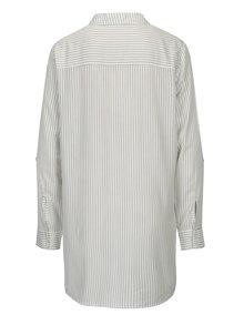 Krémová pruhovaná dlhá košeľa Jacqueline de Yong Togo