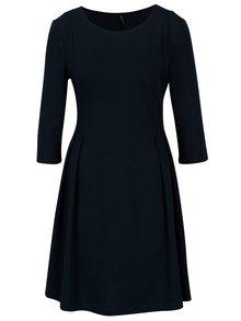 Tmavě modré šaty s 3/4 rukávem ONLY Vicky