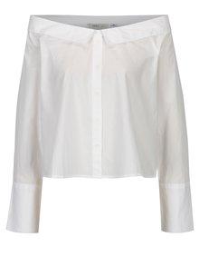 Biela krátka košeľa s lodičkovým výstrihom ONLY Bambi