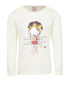 Světle žluté holčičí tričko s dlouhým rukávem a potiskem Venere