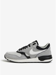 Pantofi sport negru&gri cu detalii din piele intoarsa pentru barbati - Nike Air Odyssey