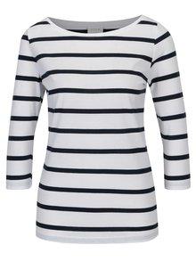 Bílé pruhované tričko VILA Striped