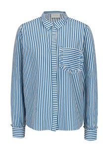 Modro-biela pruhovaná košeľa s vreckom VILA Melava