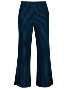 Modré pruhované kalhoty s vysokým pasem VILA Falna