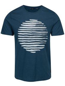 Tricou cu print albastru - ONLY & SONS Baldur